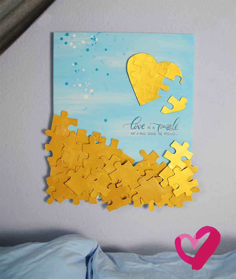 Diy Geschenkidee Puzzle Bild Basteln Und Malen Krigelkragel