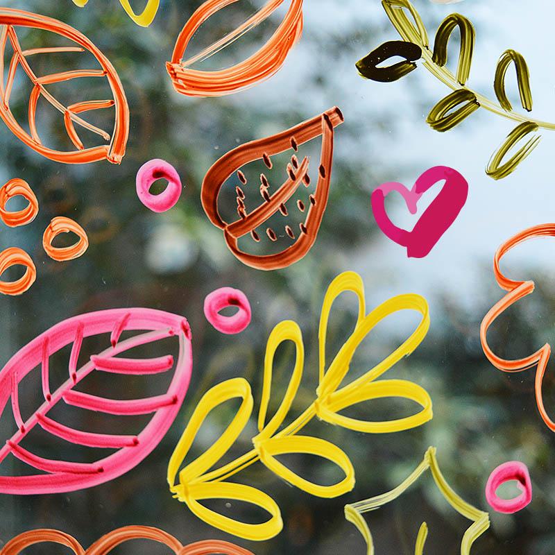 Diy Fensterbilder Mit Kreidestiften Lettern Und Malen Krigelkragel