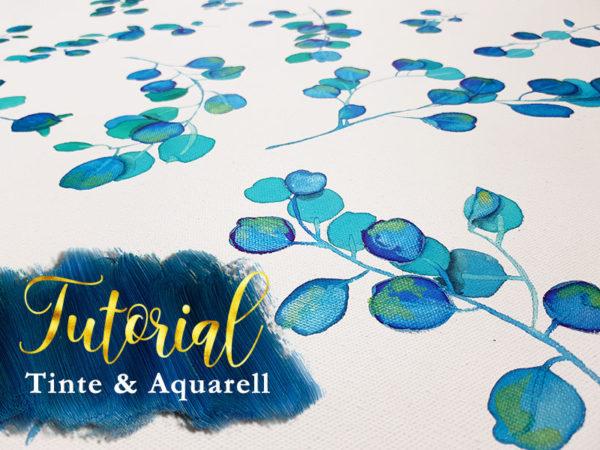 aquarell malen lernen blätter und zweige mit videoanleitung