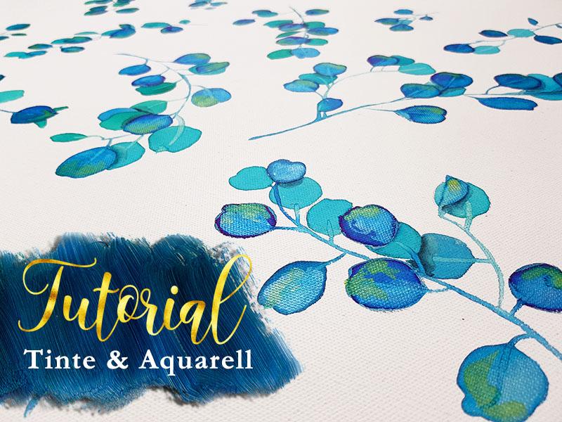 Aquarell malen lernen: Blätter und Zweige mit Videoanleitung