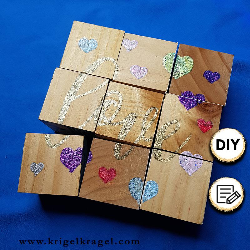 diy geschenkidee puzzle aus holzw rfeln selber machen krigelkragel. Black Bedroom Furniture Sets. Home Design Ideas