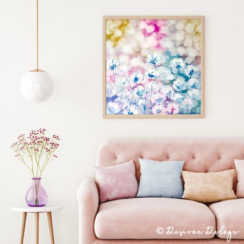 Abstrakte Malerei mit Acryl und Alkoholtinte von Desiree Delage. Die Malerein zeigt auf ihrem Blog Krigelkragel Malanleitungen zu vielen verschiedenen Maltechniken.