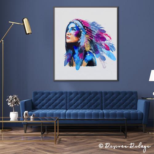 Aquarell Portrait von Desiree Delage. Auf ihrem Blog Krigelkragel zeigt die Malerin Malanleitungen zu Aquarell, Alkoholtinte und Acryl. Ihre Kunstwerke können dort auch gekauft werden.