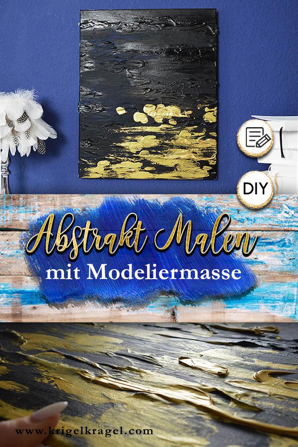 Abstrakt Malen Lernen Mit Modelliermasse Und Zwei Farben