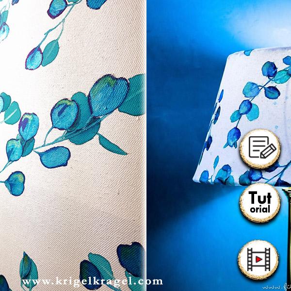 Mit Aquarell und Tinte malen lernen. Im Blogpost zeigt dir Desiree wie du florale Motive mit Watercolor selber malen kannst. Eine Malanleitung für Eukalyptusblätter mit Pinsel auf Leinwand oder Papier. #floraleswatercolor #malenlernen #aquarellmalen