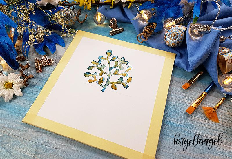 Kawaii malen lernen mit der Malanleitung auf dem Kreativblog Krigelkragel. Aquarell malen lernen und Kawaii Motiv mit Wasserfarben malen. Mit 3d Effekt und Videoanleitung.
