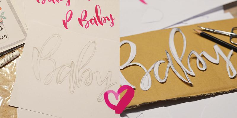 Lettering auf Leinwand in 3D selber basteln und malen mit der DIY-Anleitung auf Krigelkragel. Bastel und lettere dir ein trendiges 3D Bild als Geschenk oder Dekoidee einfach selbst.