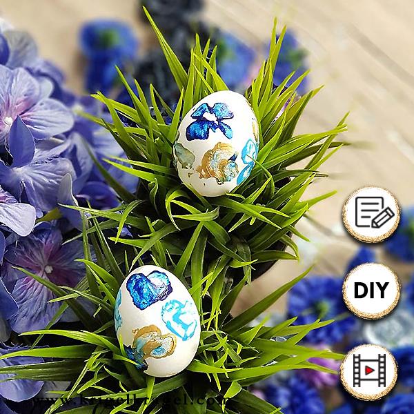 Ostereier bemalen! Hier findest du 9 Dekoideen für Ostern um deine Ostereier wunderhübsch selber zu dekorieren. DIY Malen, Basteln, Dekorieren zum Osterfest.
