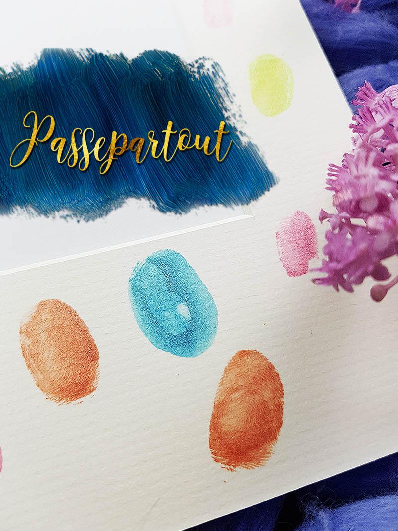 Passepartout mit Farbe selber gestalten. Deko DIY mit Malerei - 10 Ideen zum selber machen und dekorieren. Upcycling mit Farbe für Bilder zur Hochzeit, zum Geburtstag oder als persönliches Geschenk.