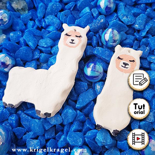 Raumerfrischer aus Modelliermasse als Lama oder Meerjungfrau selber machen und mit Farben bemalen. DIY Deko Bastelanleitung für Fimo und Acrylfarben.