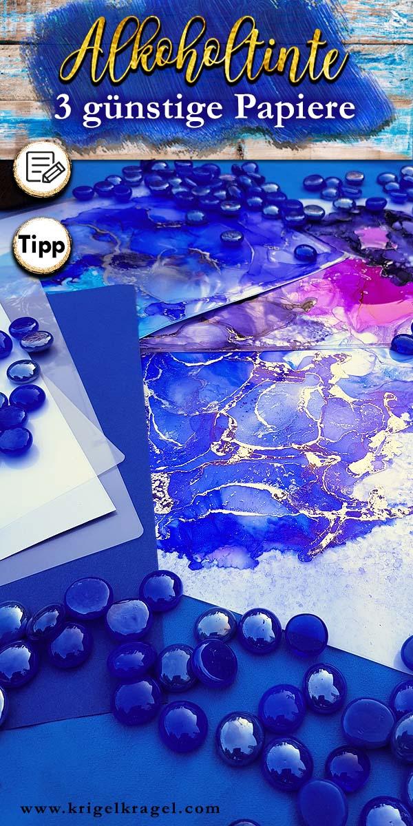 3 Alternativen zu Yupo beim Malen mit Alkoholtinte. Ich zeige dir welche günstigen Möglichkeiten es noch gibt. #alkoholtinte #malenlernen #malidee