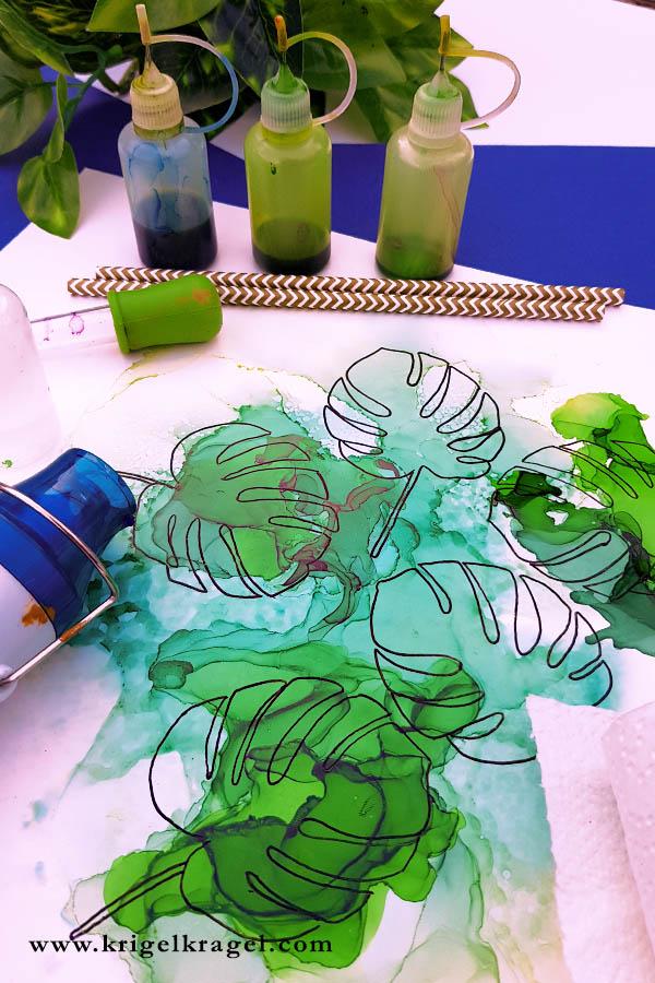 Malen lernen mit Alkoholtinte. Diese Dinge brauchst du für den Anfang um mit Alkoholtinte malen zu lernen. #alkoholtinte #malenlernen #malen