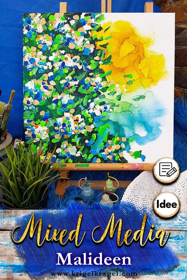 Malidee Fur Mixed Media Bilder Mit Alkoholtinte Und Acryl