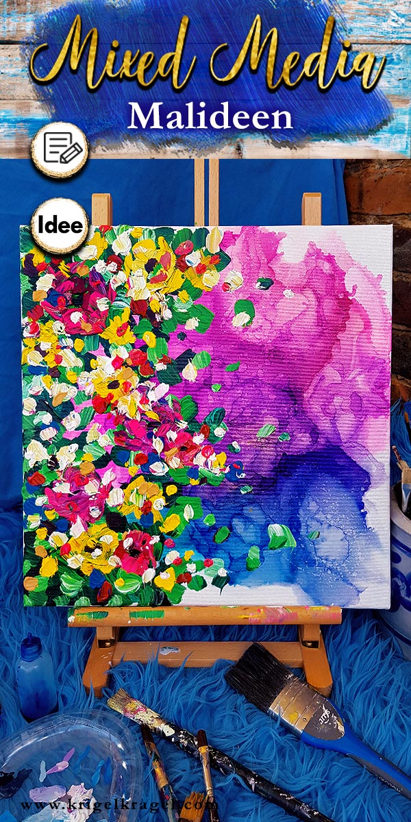 Malideen für fünf Mixed-Media-Bilder mit Alkoholtinte und Acrylfarbe. Lerne wie man abstrakte Bilder auf Leinwand selber malen kann. Eine tolle Dekoidee für dein Zuhause! #alkoholtinte #bildermalen #malenlernen