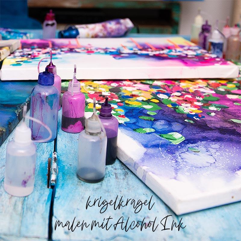 Alles was du zum Malen lernem mit Alcohol Ink wissen musst