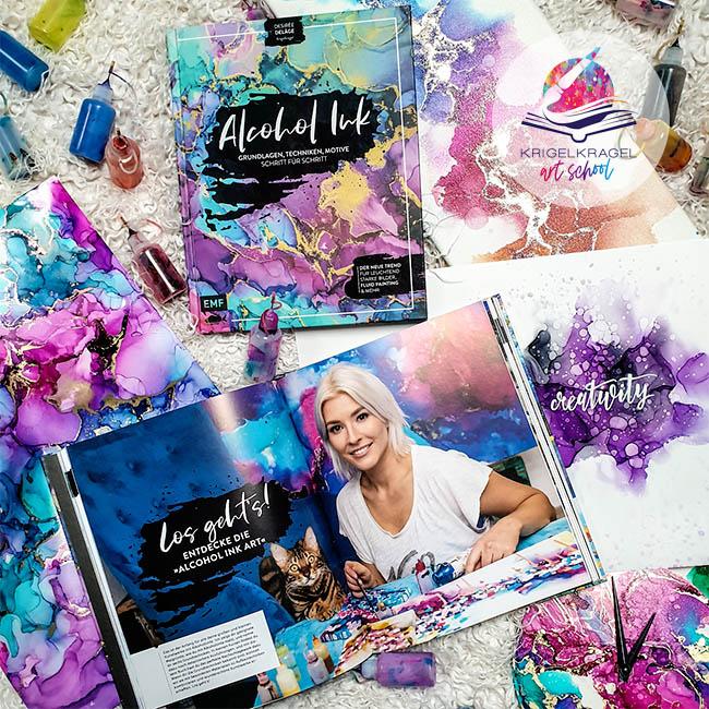 Desiree Delage ist Autorin des ersten Kreativbuchs über Alkoholtinte im deutschspracheigen Raum. Sie gibt Live-Workshops, Online-Kurse und Inspiration zu Alkoholtinte, Aquarell, Acryl und das Zeichnen. #malenlernen #malen #alkoholtinte #alcoholink