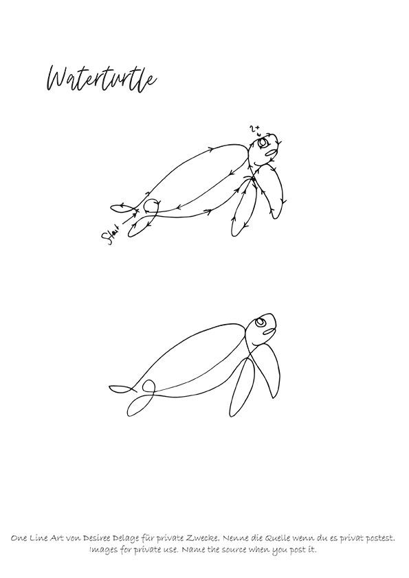 One Line Drawing Malvorlage von Desiree Delage. Auf meinem Blog findest du 9 Vorlagen für One Line Art. Motive aus dem Bereich Meerestiere, Blumen und Pflanzen, sowie Haustiere. Besonders schön in Kombination mit Alkoholtinte bzw. der Alcoholink-Art! #alkoholtinte #alcoholink #onelinedrawing #onelineart