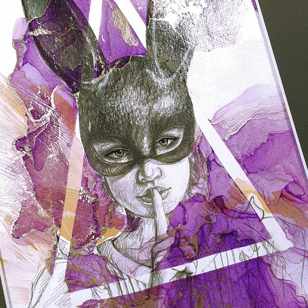 Rabbit Mask Zeichnung Desiree Delage
