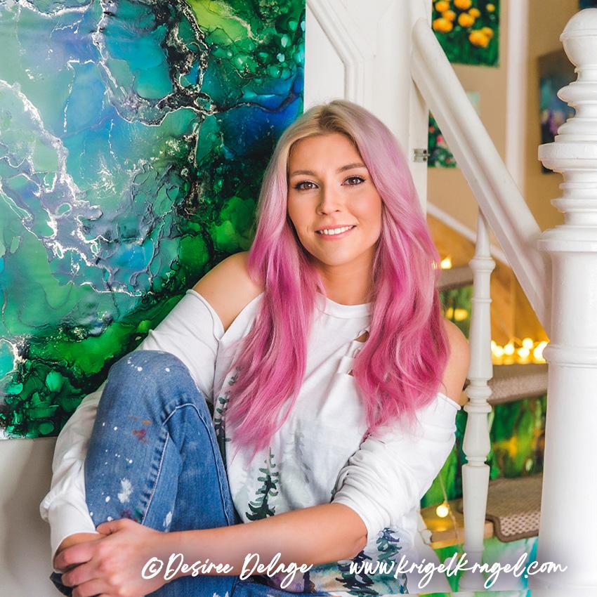 Desiree Delage Malerin und Autorin Blog Krigelkragel