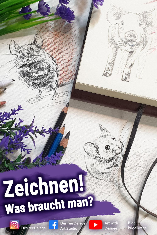 Zeichnen was braucht man? Hier kannst du nachlesen was es alles zum Zeichnen gibt und was man als Anfänger zum Zeichnen lernen benötigt. #zeichnen #zeichnenlernen #zeichnenfueranfaenger